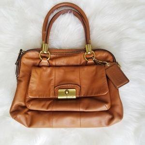 Coach | Cognac Leather Kristen Shoulder Bag